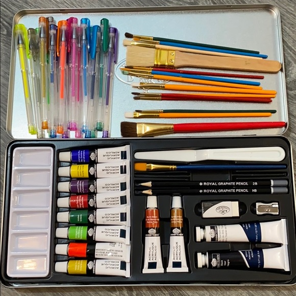 🎨 Art Bundle Acrylic Paint Brushes Organizer